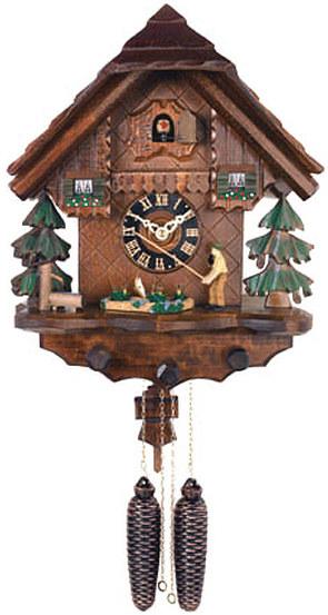 802 14 Black Forest Fisherman 8 Day Cuckoo Clock Cuckoo Clocks At German Clock Imports