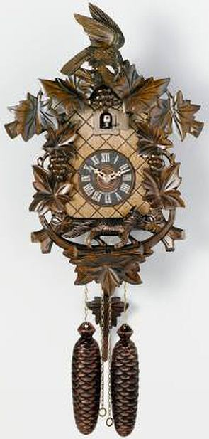 823 17 Aesop 39 S Fable Fox And Grapes 8 Day Black Forest Cuckoo Clock Cuckoo Clocks At German