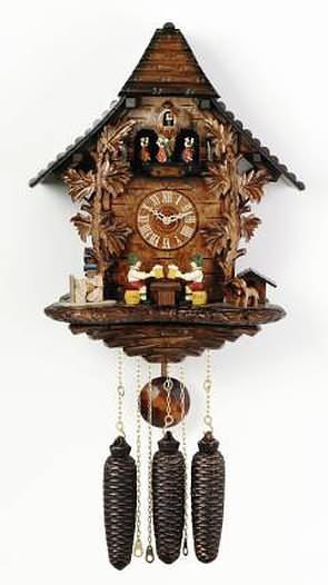 Md806 19 Beer Drinker 39 S Raise Mugs 8 Day Black Forest Musical Cuckoo Clock Cuckoo Clocks At